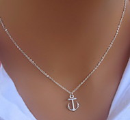 Shixin® Vintage Anchor Shape Alloy Pendant Necklace(1 Pc)