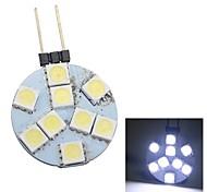 merdia g4 0.5w 45lm 9x5050smd LED bianco luce decorativa / luce posto auto (1pc / 12v)
