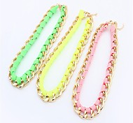 Light Color Knitted Chain Necklace Wholesale Fashion Jewelry for Women