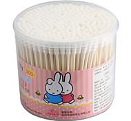 300pcs alta calidad hisopos de algodón maquillaje