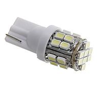 t10 3w 24x1206 SMD LED blanco 80-90ml llevó bombillas para la lámpara de señal de vuelta del coche (12V CC)
