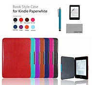 COCO FUN® PU Protective Case with Film and Stylus for Kindle Paperwhite