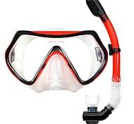 OceanPro adulto máscara eden conjunto snorkel seca P4001 + P5001