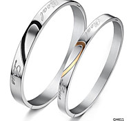 Z&X®  Fashion Splicing Love Titanium Steel Couple Bracelet