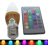 luz RGB LED mancha wwith control remoto - plata (CA 85 ~ 265V) 180lm 3w e27