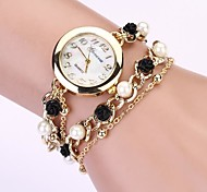 Women's Round Dial Geneva Jewelry Chain Band Quartz Bracelet Crystal Watch Cool Watches Unique Watches Fashion Watch