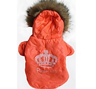 Cat / Dog Hoodie Orange Winter Tiaras & Crowns