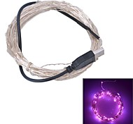 Xinyuanyang® USB  6W 100-0603 SMD Pink Light LED Strip Lamp - Silver (DC 5V / 1000cm)