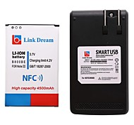 Link Dream  Cell Phone Battery with NFC+Charger  for Samsung Note3 N9000 N9005  N9002 N900 N900A (4500 mAh)