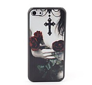 Cross and Rose Style Protective Back Case for iPhone 5C