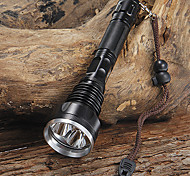 LED Flashlights / Handheld Flashlights LED 5 Mode 4000 Lumens Waterproof / Rechargeable / Tactical / Self-Defense / Impact ResistantCree