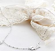 Klassiker freche Katze 925 Silber, Platin-Halskette (1 PC)