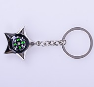 The Star Shape a Compass Metal Silver Keychain Toys