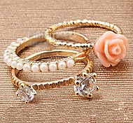 Exquisite Floral Three-piece Sets Ring