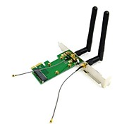 Mini PCI-E to PCI-E Express Wireless Card with Dual Antennas Network Internet Computer WiFi