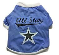 """india """"lettera + star"""" della maglietta pet colori assortiti dimensioni blu (XS-L) per cane"""