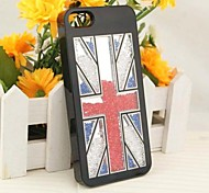 LUXURY Rhinestone Union Jack Back Cover Case for iPhone 5/5S(Assorted Colors)