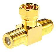 F Male to 2F Female Adapter