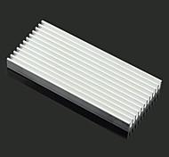jtron disipador de calor de aluminio / electrónicos radiador / de refrigeración del bloque de aluminio - plata (100 x 45 x 10 mm)