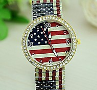 Women's Tower Leopard Printed Flag PU Quartz Watch (Assorted Colors) Cool Watches Unique Watches