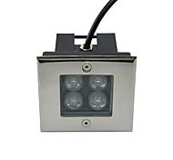 4pcs conduziu a lâmpada de metro quadrado ao ar livre alta 4W de potência (AC85-265V)
