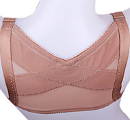 Prevent Humpback High Elastic Lady Chest Brace Support Belt Posture Corrector X Type Back Shoulder Vest Coffee NY062