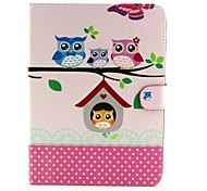 Family Owl Pattern Full Body Case with Stand for Samsung Galaxy Tab 4 10.1 T530