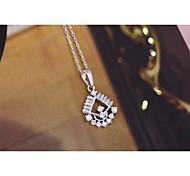 Women's Fashion Flower Crystal Necklace Pendants