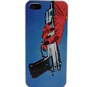 Cartoon Gun Pattern PC Back Case for iPhone 5