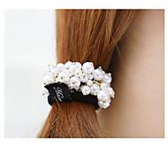 Elegant Pearl Hair Ties Hair Circle
