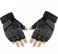 Outdoor High Quality PU Case Leather Cycling Short Finger Gloves