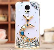 Luxus Diamanten Kristalledelstein Mondrückseitigen Abdeckung für Samsung Galaxy S5 mini