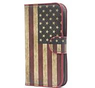 american flag usa Leder Brieftasche Fall mit Ständer und Card Slot für Alcatel One Touch Pop c5