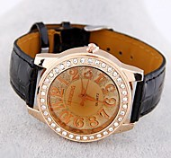 Women's European Style Trend Wild Casual Leather Fashion Watches(Assorted Colors)