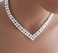 shixin® matrimonio v forma epoca collana di perle bianco (1 pc)