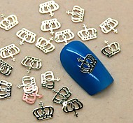 200PCS Metal Crown Design Golden Slice Nail Art Decoration