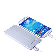 5600mah aluminio dual usb batería externa del banco de potencia para iPhone5 / 5s / 5c samsung s5 4 Nota 2 3, sony htc uno