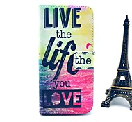 Live Life Sea Pattern PU Leather Cover with Stand and Card Slot for iPhone 6