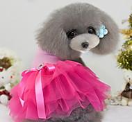 Собаки Платья Одежда для собак Лето Весна/осень Цветовые блоки Мода Черный Желтый Розовый Зеленый Синий