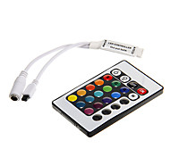 Z®ZDM 6A 72W IR 24-key RGB Mini LED Remote Controller for RGB LED Light Strip (DC12V)
