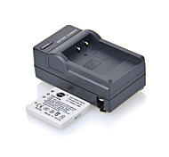 DSTE 3.7V 1300mAh Batería DB-L20 + cargador DC77 para cámara Sanyo DMX-CG6 C5 CG9 CA65