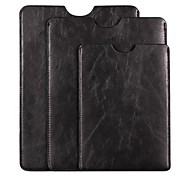 Super Soft High Quality 7'' or 9.7'' or 10'' Black Leather Laptop Sleeve Bag Case