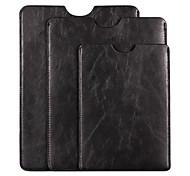 súper blando de alta calidad 7 '' o 9.7 '' o 10 '' ordenador portátil de cuero caso bolsa de la manga negro