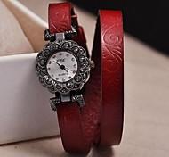 Damenmode Lederband Prägung Armbänder Uhren (farblich sortiert)