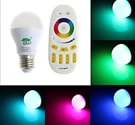 zweihnder e27 6w 450lm 6000-6500k 2.4ghz transmissão rf luz lâmpada LED RGB com controle remoto (AC 85-265V)