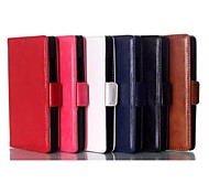 Solid Color PU Leather Case with Stand Holder for Huawei Honor 6(Assorted Colors)