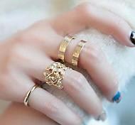 (3PC) Fashionable Vane Three-piece Metal Joint Ring