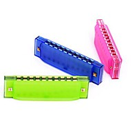 Colorful Harmonica Plastic Play Instruments Toys(Random Color)