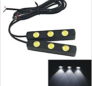 Carking™ 12V 3LED 3W Eagle Eye Car Daytime Running Lights--White Light(2PCS)