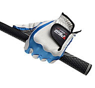 PGM Men's Left Hand Synthetic Leather+Lycra White+Blue High Elastic Magic Golf Gloves-1 Piece